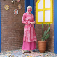 setelan vanya motif maxi/homedress/gamismurah/fashionwanitaterbaru - fanta, all size