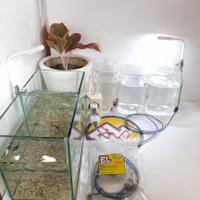 WARNA PUTIH - 1 Set Lampu LED Aquarium Mini/Soliter/Toples Ikan Cupang