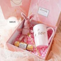 kado valentine unik gelas set coklat boneka valentine JA880