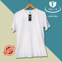Kaos Polos Putih Cotton Combed 30s Premium Baju Pria Wanita Murah