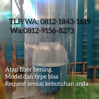 atap transparan fiberglass, atap bening fiber