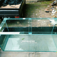 aquarium 100x50x50 alas 12mm keliling 10mm LEM HITAM
