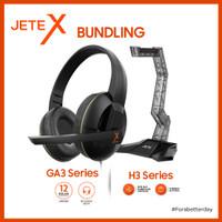 JETE BUNDLING Headset Gaming GA3 + Headset Stand H3