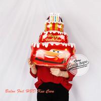 Balon Foil kue cars / Balon cars / balon karakter cars / cake hbd cars - kecil