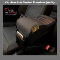 Car Arm Rest Carbon / Bantal Sandaran Tangan Mobil Premium Quality