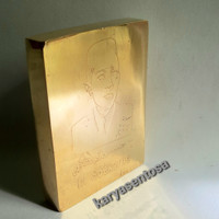 Barang Antik Replika Emas Batangan Lm Sukarno Ukuran 1kg Istimewa