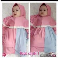 Gamis Syar'i Anak Bayi 0-11bln Aisya Baju Muslimah Anak Permpuan Gamis