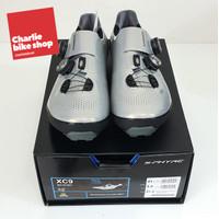 SHIMANO XC9 MTB Gravel Shoes SH-XC901 Silver Wide