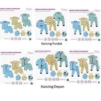 Kazel Setelan Piyama Baju Anak Baju Bayi - MOTIF ASTRONAUT