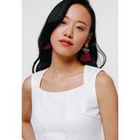 Esfrid Tassel Drop Earrings - Red