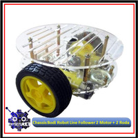 Chassis Bodi Robot Line Follower 2 Motor + 2 Roda