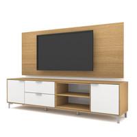 HighPoint Case Rak TV/Meja TV/TV Cabinet PCI006-04 [White-Dessert Oak]