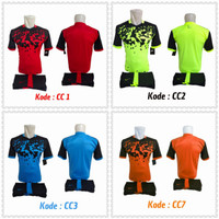 1 lusin/12 setel baju kaos olahraga jersey stelan futsal voley bola CC