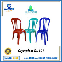 Olymplast Kursi Bangku Sender Sandar Santai Plastik Susun Ol 101 Ol101