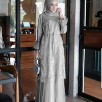 Dress Brukat Muslim Humaira Gamis Kebaya Perempuan Baju Pesta Wanita