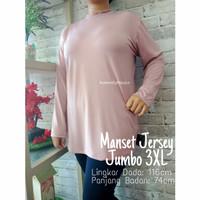 Manset Baju bahan Jersey premium size jumbo XXXL