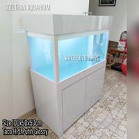 Kabinet dan Aquarium 100x50x50 HPL Taco