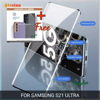 SAMSUNG S21 ULTRA TEMPERED GLASS FULL COVER CURVE ANTI GORES KACA
