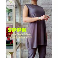Manset baju Tunik Kutung / buntung Tanpa lengan bahan Katun premium