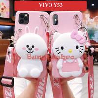Vivo Y53 Soft Case Casing Cartoon Lucu Back Cover Dompet Tali Lucu