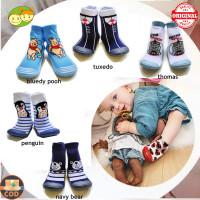 Skidder Baby Shoes Carter Pillar Boneka/ Prewalker Bayi Alas Karet