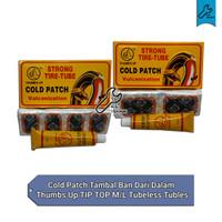 Cold Patch Tambal ban dari dalam Thumbs up TIP TOP M/L Tubeless tubles