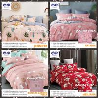 Bed Cover set Queen King Extra King Size bahan Katun Esra