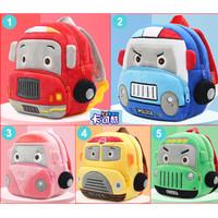 Little Bag Backpack Tas Anak Sekolah Police Car Bus Tayo Cute