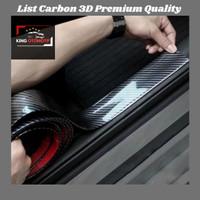 List Carbon 3D Uk 5CMx2.5M Sticker Pelindung Lip Bamper/Door Threshold