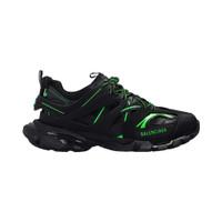 Balenciaga Man Sneaker Track Trainer Black Fluo Green