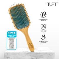 TUFT Bamboo Paddle Blue Cushion Brush / Sisir Rambut - Square