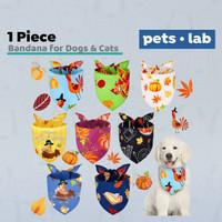 Bandana Scarf Bibs Dog Cat Aksesoris Baju Collar Anjing Kucing Pumpkin