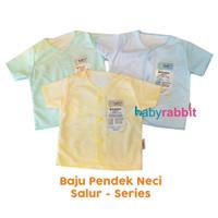 3 PCS Baju Pendek FLUFFY BABY SALUR Size NewBorn / Baju Pendek Bayi