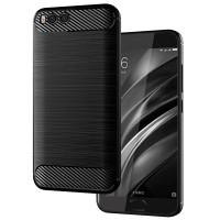 Armor Carbon TPU Case Xiaomi Mi6 - Mi 6 - Casing Black Soft Cover Fit