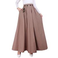 Premium Rok Panjang Payung Rok Maxi 033 - Moca, All Size
