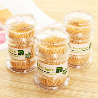 Tig | tusuk gigi bambu isi banyak botol plastik premium murah sama box