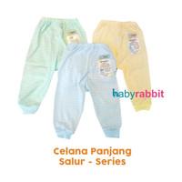 3 PCS Celana Panjang Buka Kaki FLUFFY SALUR Size NewBorn /Celana Bayi