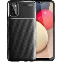 Carbon II TPU Case Samsung Galaxy A02s - Casing Black Soft Armor Ori