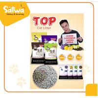 Pasir Top 20kg pasir top 25liter Pasir kucing Top 25lt gumpal wangi