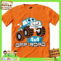 Baju/Kaos Anak Motif Mobil Offroad 1-10 th - 1-2 tahun