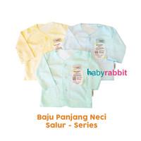 3 PCS Baju Panjang FLUFFY BABY SALUR Size NewBorn / Baju Panjang Bayi