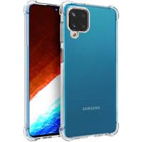 Shock Absorption TPU Case Samsung Galaxy A12 - Clear Anti Crack Cover