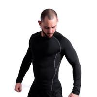 Compression Long Sleeve Shirt Kaos Gym Baselayer Pria Dry Fit