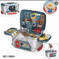 mainan tool box 2in1 pertukangan set/mainan anak