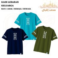 Baju Kaos Muslim laki-laki Bayi Anak Remaja dan Dewasa Katun~Kaosnama - Navy, Bayi Size 1-3
