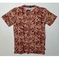Baju Kaos Pria Motif Abstrak Full Printing Spandex Spandex Ukuran L - Merah