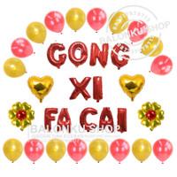 Balon Gong Xi Fa Cai / Balon Foil Huruf Gong Xi Fa Cai / Balon Imlek