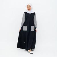 Baju gamis anak Perempuan Full Line Warna Black Umur 4-10 tahun