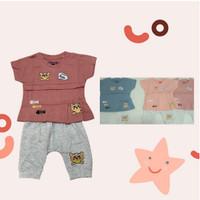 Setelan Anak Perempuan/Baju Anak cewek Fashion 1-3Y/Bahan Premium - Pink, 1Y