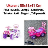 Barbie Jeep Musik Dorong